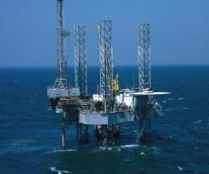A fall in North Sea oil production contributed to falling industrial output